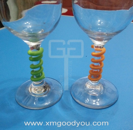 Custom Silicone Party Wine Glass Mark