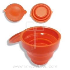 OEM Silicone Collapsible Cup Promotion Gift Custom Silicone Foldable Cup