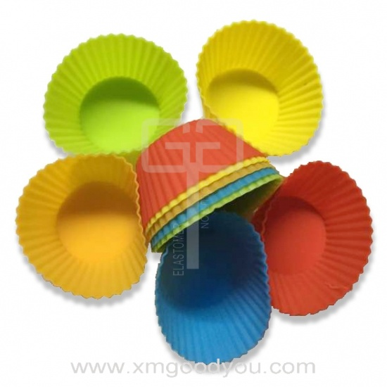 Colorful Reusable Silicone Baking Cups