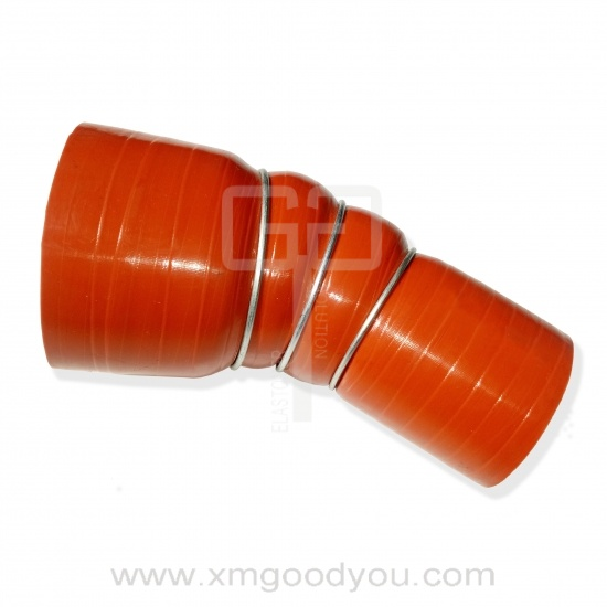 Good Negative Pressure Silicone Hoses With Steel Ring